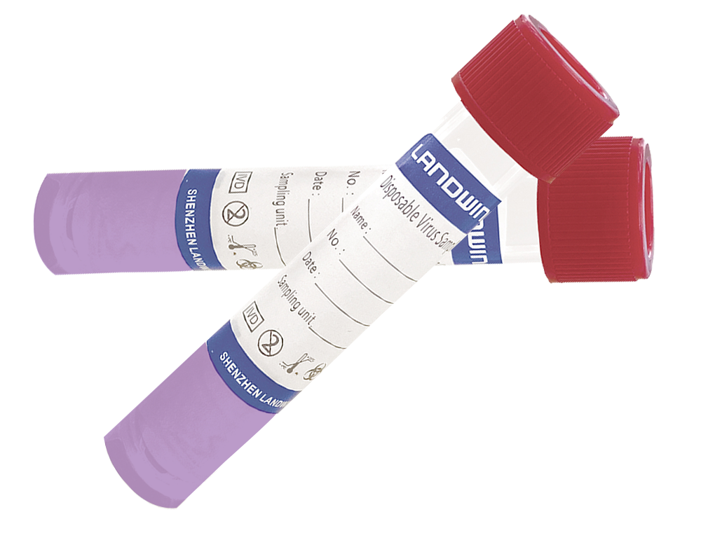 Tube-N (non-inactivating) for sampling contains tris, bovine serum albumin BSA and glycine